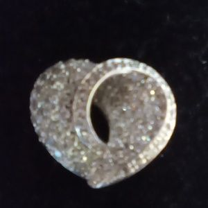 925 Sterling Silver , Cubic Zirconia Diamond Heart